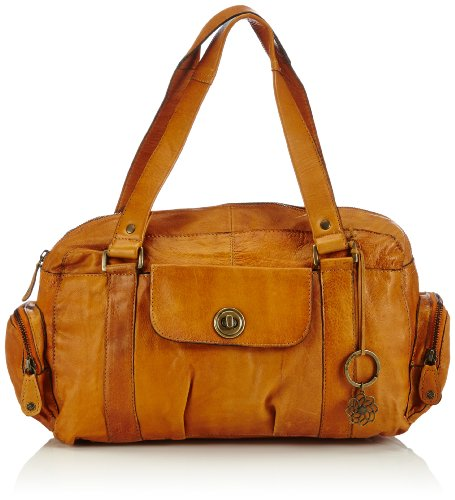 PIECES Damen TOTALLY ROYAL LEATHER SMALL BAG NOOS Schultertaschen, Braun (Cognac), 32x20x12 cm