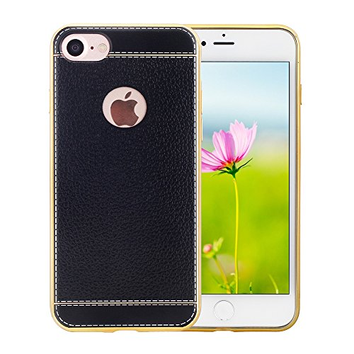 noranie-iphone-7-case-47-soft-tpu-leather-grain-back-cover-with-plated-frame-bumper-shockproof-flexi