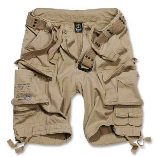 Brandit Savage Gladiator daUomo Cargo Pantaloncini Corti B-2001 - cotone, Sabbia Beige, 100% cotone, Uomo, XL