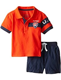Tommy Hilfiger Baby Boys' Athletic Pique Polo and Short Set
