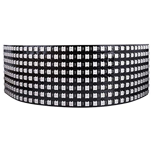 Longruner WS2812B LED Strip Panel Kit Matrix 8x32 256 Pixel Digitales Flexibles Integriertes WS2812B IC LED Licht mit Voller Traumfarbenbeleuchtung DC5V LWS03 -