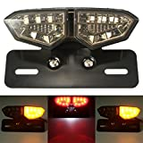 Ocamo Motorrad 12V LED Blinker Rücklicht Bremse Hinten Kennzeichenbeleuchtung Halterung