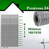 Wildzaun Forstzaun Weidezaun Rollenware Verzinkt 160/15/30 50m