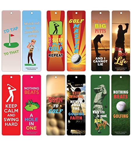 Creanoso Encouraging Word Sprüche Golf Lesezeichen Karten (30er-Pack) - Geschenk für Golfer, Erwachsene Männer und Frauen - Golf Turnier Supplies - Buch Clubs Lesen -
