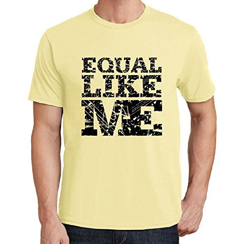 equal-like-me-camiseta-para-las-hombres-manga-corta-cuello-redondo-amarillo