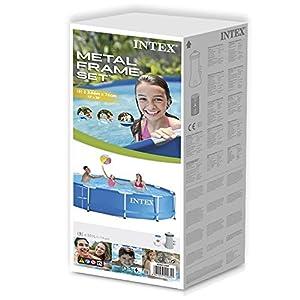 Intex 28212 Metal Frame Piscina con Pompa Filtro, 6500 L, Blu, 366 x 76 cm
