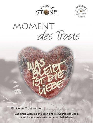 The Art of Stone Momente des Trosts Marmorsteinherz was bleibt ist Liebe Unikat - Hand beschriftet Trauerbegleiter Trost Grabbeigabe