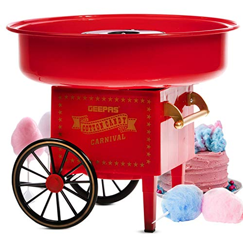 500 W Baumwolle Candy Maker für Geburtstage, Partys und Feiern - einfach zu bedienen, lustig und spannend, um Süßigkeiten schnell zu machen, einfaches Design - 2 Jahre Garantie - Vintage Snow Cone