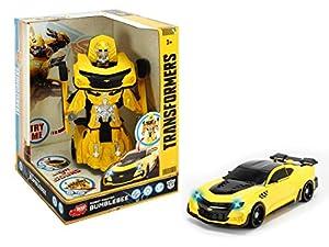 Dickie- Transformers Vehículo transformable en Robot, Color Amarillo (3113025)