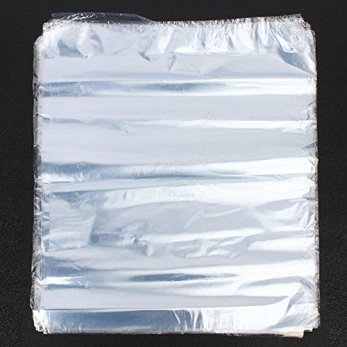 ZHENWOFC 50 Stücke Schrumpffolie Wrap Film Clear Heat Seal Taschen Seife Kerzen Verpackung 40X46 cm Siegelfolie Hardware-Ersatzteile (D-und B-clear-taschen)