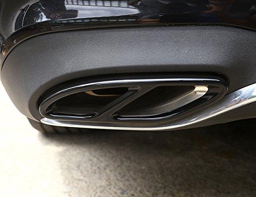 METYOUCAR Tubo di scarico coda gola nero lucido di uscite Tail Frame Trim copertura