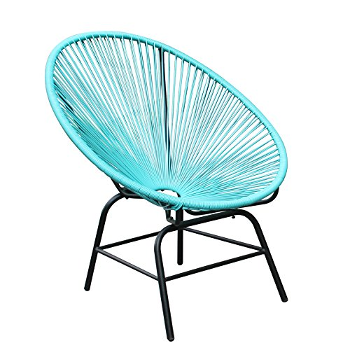 Original Retro Acapulco Chair Türkis Blau Mexico Stuhl Aus Metall