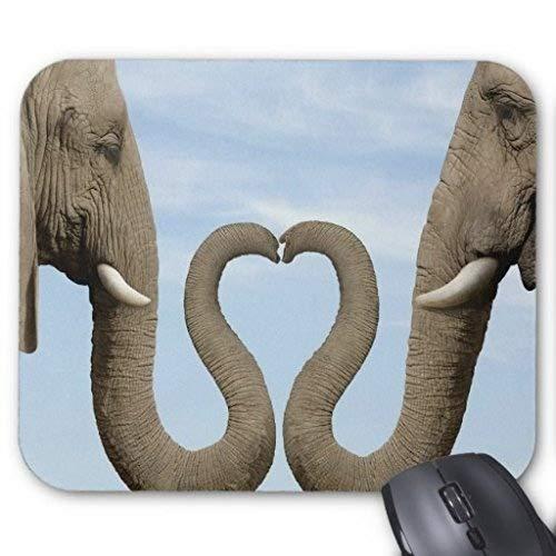 Yanteng MP-1106 Dos Elefantes enamorándose Mousepad Rectángulo Antideslizante Alfombrillas de Goma Diseño...