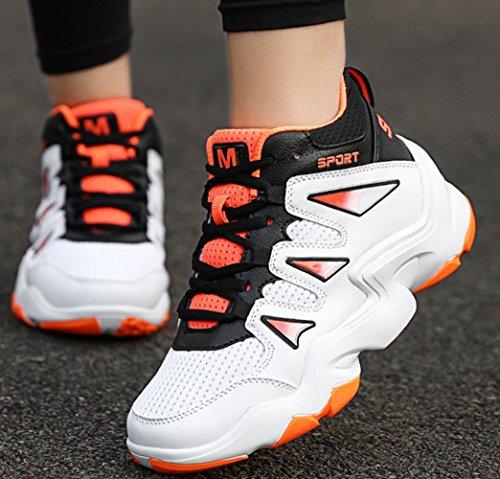 LFEU Scarpe da Basket Unisex – Adulto bianco arancione
