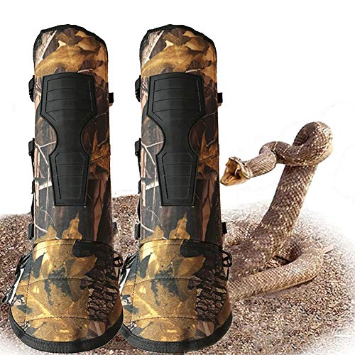 YomyRay Schlangen Gamaschen Unterschenkel Rüstung Gamaschen Wasserdicht Komfortable Schutzausrüstung (Größe Einstellbar) -