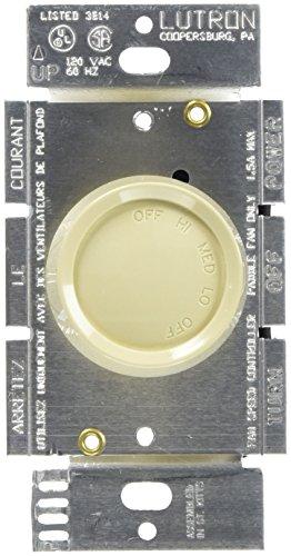 Lutron Rotary 1.5-amp Single Pole 3Fan Control elfenbeinfarben (Lutron Beleuchtung)