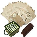 10 Staubsaugerbeutel + Filterset geeignet für Vorwerk VK 130 VK131 VK131 SC mit EB 350 oder EB 351