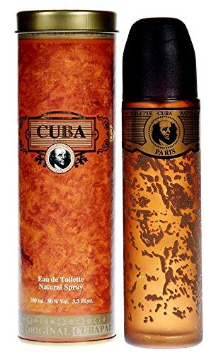 Cuba Eau De Toilette Spray (Cuba Gold Eau De Toilette Natural Spray Original for Men 100ml by Cuba Gold by Cuba)