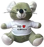 Ratoncito de juguete de peluche con camiseta con estampado de 'Te quiereo' Cebolla (ciudad / asentamiento)