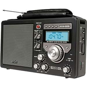 eton s350 deluxe noir poste radio portable am fm ondes courtes lecteurs mp3 casques. Black Bedroom Furniture Sets. Home Design Ideas