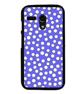 PrintVisa Designer Back Case Cover for Motorola Moto G :: Motorola Moto G (1st Gen) :: Motorola Moto G Dual (Blue Dotted Pattern Wallpaper)