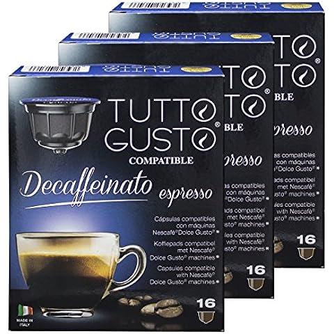 Per portare Gusto Espresso Decaffeinato, caffè, compatibile con Nescafé Dolce Gusto macchine, capsule{48}
