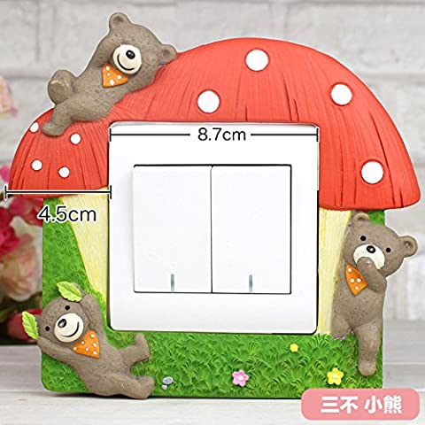 Belle caricature d'oursons chambre d'enfants décorées de couleurs créatives d'origine machine prise murale , Kit d'oursons - Commutateurs