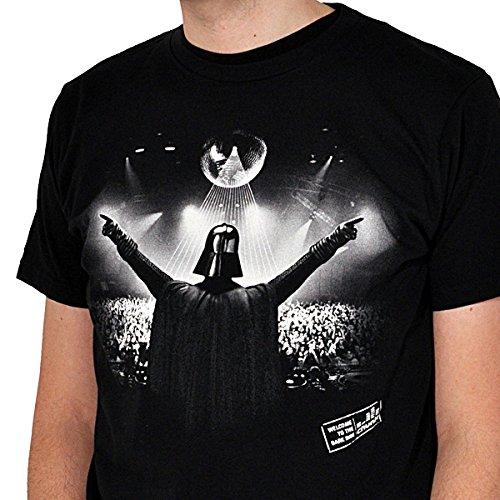 Star Wars DJ Vader T-Shirt, Darth Vader Fan Shirt, hochwertig und trendig Schwarz