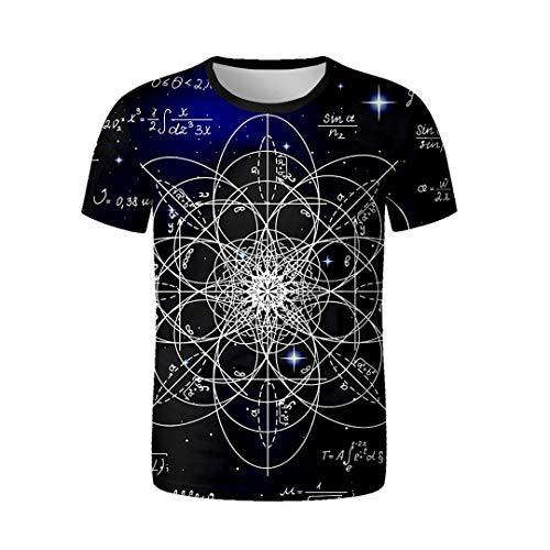 Jordanien Spitze (Sommer 3D T-Shirt Männer Arbeiten beiläufiges Streetwear Harajuku Hip Hop lustiges kurzes Hülsen-Spitzen-T-Stück um V01092 XXL)