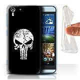 Stuff4® Gel TPU Hülle/Case für HTC Desire Eye LTE/Punisher Inspiriert Muster/Antiheld Comic-Kunst Kollektion