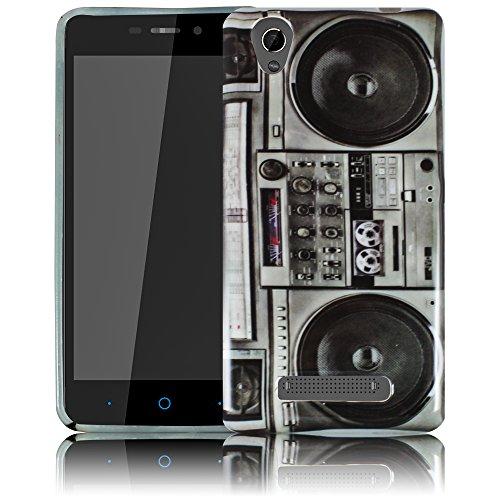 ZTE Blade A452 - Ghettoblaster Silikon Schutz-Hülle weiche Tasche Cover Case Bumper Etui Flip smartphone handy backcover Schutzhülle Handyhülle thematys®