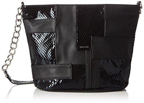 Tamaris LONE Crossbody Bag 1289162 Damen Umhängetaschen 25x24x12 cm (B x H x T) Schwarz (black comb 098)