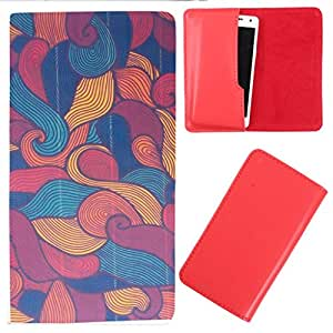 DooDa - For Karbonn Titanium MachFive PU Leather Designer Fashionable Fancy Case Cover Pouch With Smooth Inner Velvet