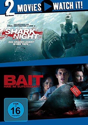 Shark Night - Das Grauen lauert in der Tiefe / Bait - Haie im Supermarkt [2 DVDs] - Kids 3d Spy