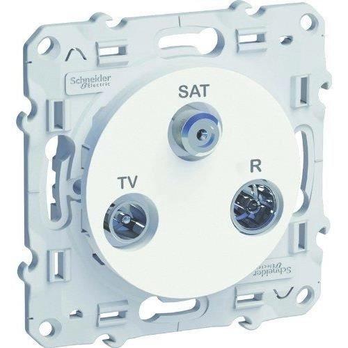 Preisvergleich Produktbild Schneider Electric SC5S52A461 Steckdose für TV / FM / SAT, Weiß