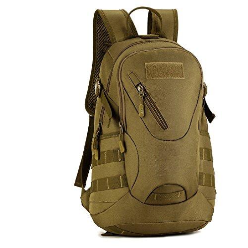 Imagen de sunvp táctical  militar  asalto  gran bolsa de hombro impermeable 20l para las actividades aire libre, senderismo, caza ,viajar, color marrón oscuro