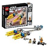 LEGO Star Wars - Vaina de Carreras de Anakin (Edición 20 Aniversario), Juguete de construcción de Nave de Carreras de Skywalker del Episodio I, Incluye Minifigura de Padme Amidala (75258)