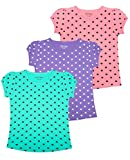 #7: Minnow Girls Heartin Printed Cotton Tshirt(Pack of 3 , 2-3 Yrs to 14-15 Yrs)