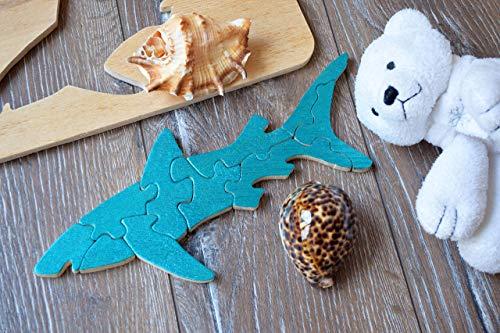 Hai Holz puzzle Baby Spielzeug Montessori Haifisch