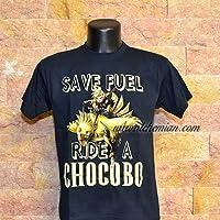 Save Fuel ride a Chocobo, maglia blu scura, maglietta t-shirt, felpa, canotta, Final fantasy VII