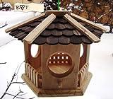 Vogelhaus, Vogelhäuser Großes XL Vogelhaus, aus Holz Vöglehus Vogelvilla Vogelhäuschen Vogelhaus, Futterstation S35du dunkelbraun