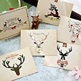 A propos du produit  Matériel: Bourrage papier  Couleur: multicolore  Style: Noël, sympa, mignon  Taille de la carte: 3,35 x 4,5 pouces  Taille de l'enveloppe: 3,54 x 4,72 pouces  Quantité de modèle: 6 par jeu, chaque modèle a 5 pièces Poids: environ...