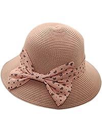 BIGBOBA Sombrero de Paja para Mujer de Summer Beach Hat -Gorro de Playa  Plegable Vacaciones e3fd06adb06