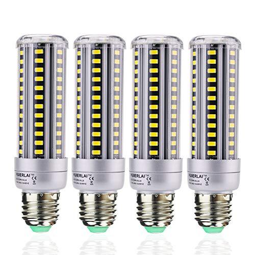 15W E27 LED Kaltweiß Led Lampe Ersetzt 120W Glühlampen, 6000k 1380 Lumen LED E27 Mais Birne Beleuchtung LED Leuchtmittel Maiskolben 360° Abstrahlwinkel (4er-Pack) by HUIERLAI