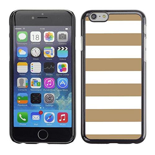 Graphic4You Color Stripes Farbstreifen Muster Design Harte Hülle Case Tasche Schutzhülle für Apple iPhone 6 / 6S (Gelb) Hellbraun