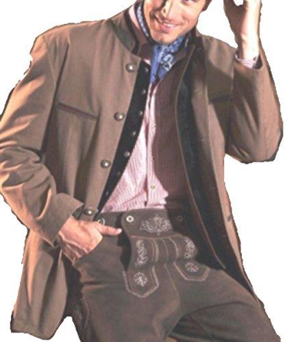 Trachtenjanker Trachtenjacke Trachten Jacke Herren Fünf-Knopf-Form mit Stehkragen 48
