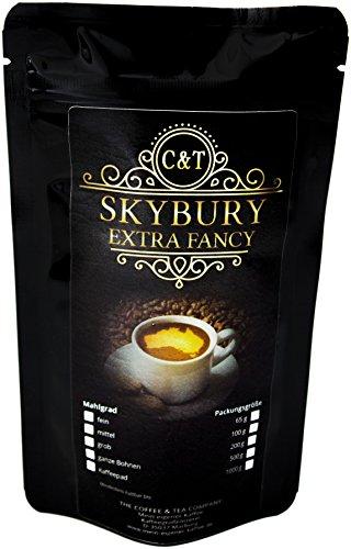 Kaffee Globetrotter - Echte Raritäten (Ganze Bohne, 1000g) Australia Skybury Extra Fancy - Raritäten Spitzenkaffee - Werden Sie Zum Entdecker!