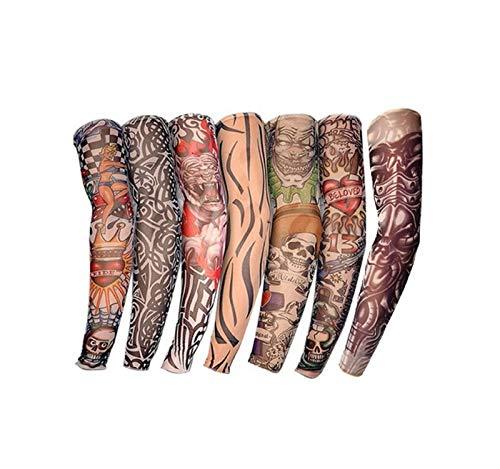 isex Nylon Tattoo Ärmel Armstrümpfe Halloween Tattoo weiche warme Sonnencreme dehnbar ()