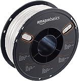 AmazonBasics - PETG 3D-Drucker Filament, 1,75 mm, Multipaket mit 5 Farben, 1 kg Spule, Weiß