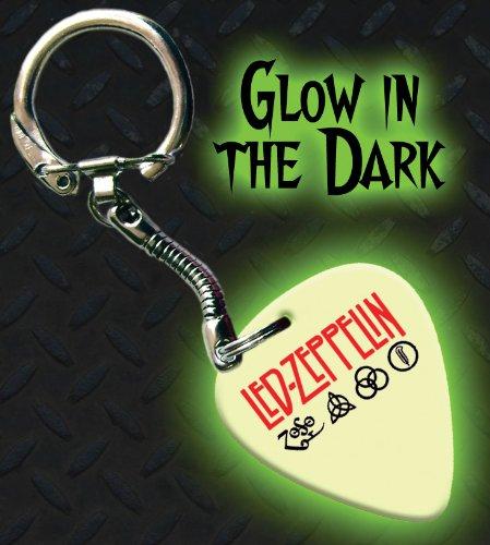 Led Zeppelin die im Dunkeln leuchten Premium Guitar plektron Schlüsselring (Led Picks Zeppelin Guitar)
